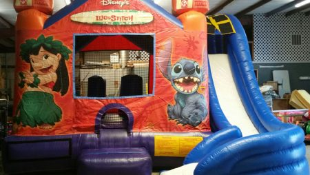 15×15 Lilo & Stitch Bounce House Slide $250
